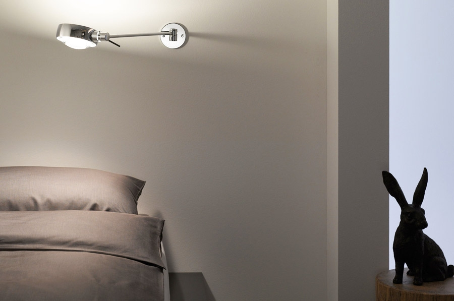 Occhio Sento wandlamp in aluminium of chroom