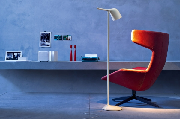 Colibri leeslamp in wit of wit met limoen  Foscarini